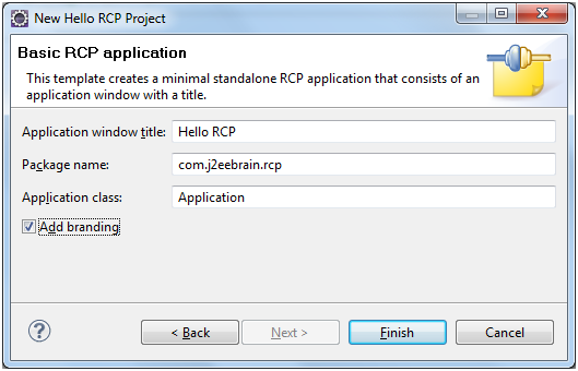 Basic RCP application
