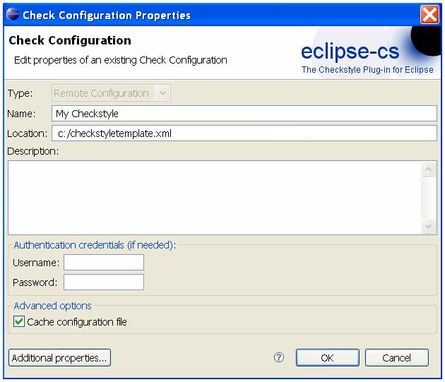 Checkstyle Check Configuration