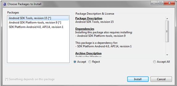 Configure Android Package