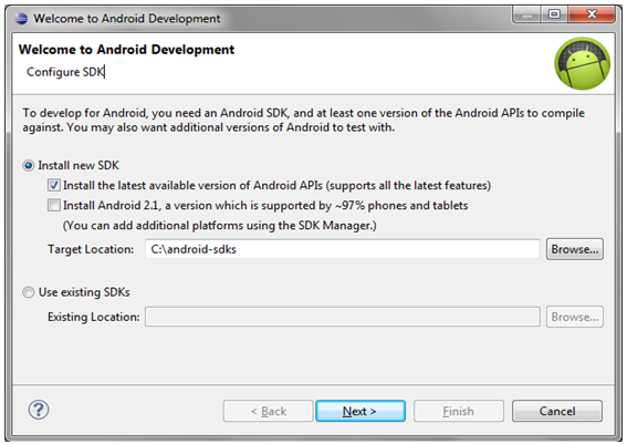 Configure Android SDK